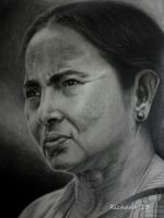 Mamata Banerjee, CM of West Bengal, India by richardbgomes