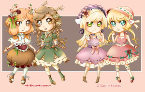 Adoptable Sisters Set (CLOSED) by CyscoAdoptables