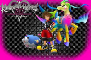 Kingdom Hearts 3D Wallpaper: Sora's Dream by AzuraJae