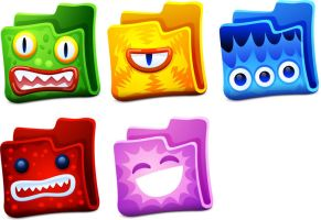 Creature Folders Icons by FreeIconsFinder