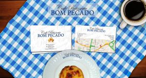 Bom Pecado Cafe business card and Logo by onurb-design