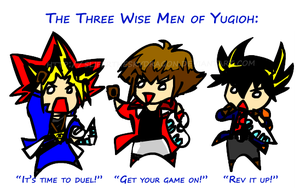 The three wise men of yugioh by slifertheskydragon