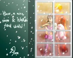 Winter window cuteness by Shyndree