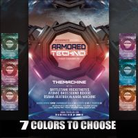 Armored Techno Flyer Template by MCerickson