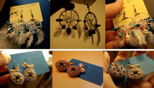 handmade earrings 2 by GlykoNat