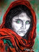 The Afghan Girl by AlulaDreamCreations