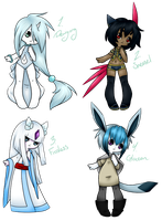 Ice Pokemon Gijinkas (CLOSED) by Uprising-Adopts