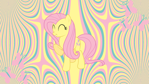 Minimal Fluttershy Wallpaper by uxyd