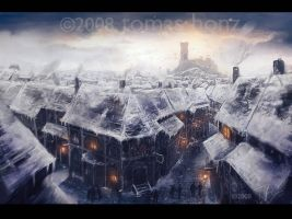 A crowded town by merl1ncz