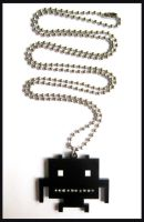 Space Invaders Necklace by cherryboop
