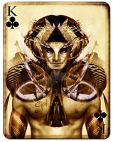 Playing Cards - King of Clubs by cynthiafranca
