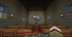Minecraft church inside by Saraphimwolf