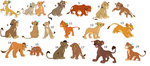 FREE !!!!!!!!!!!!!!!!! lion cub adoptables 6 by knowitall123-adopts