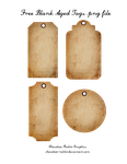 Free Aged Tags - PNG  Freebie by chocolate-rabbit