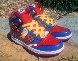 Sonic 'Light Speed' dunks -siX by meberra