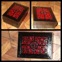 Red Victorian-Inspired Box by blue-fusion