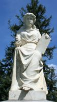 Mount Olivet Cemetery Woman 96 by Falln-Stock