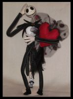 Skellington's big heart by DarkDollArt