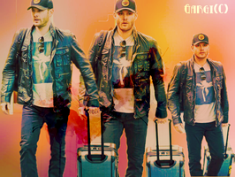Jensen at the airport by magicrubbish