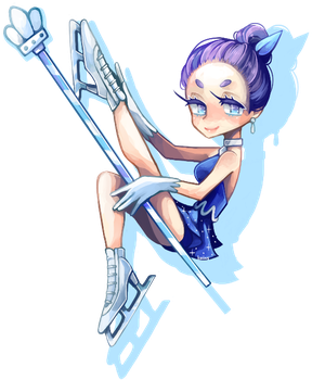 Skating Queen Cookie by hatsukoin