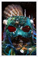 Green Mermaid Mask by EnchantedMasquerade