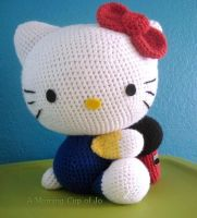 Crocheted Hello Kitty by amorningcupofjo
