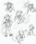 Nanami Expression Doodles 1 by Inkblot-Rabbit
