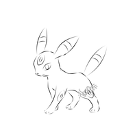 Umbreon-Lineart by Noel-TF