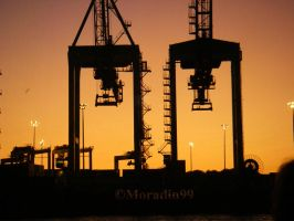 Port de Montreal - Grues de chargement by Moradin99