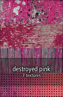 destroyed pink textures by rainbows-stock