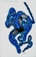 BLUE LANTERN SPIDEY WIP FINAL by FanBoy67