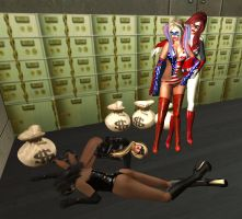 Invincibelle and Dixie Lass: Assault in the Vault by EthereaS