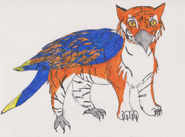 Tiger Parrot Griffin 'Cause I can! by MEG4LOVANIA
