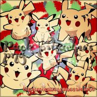 Pack Pikachu Png. by JustAwesomeSilence