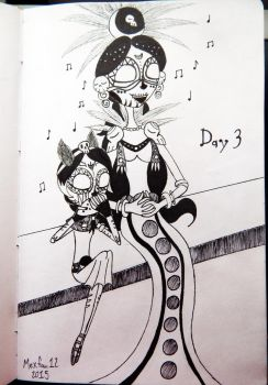 Inktober #3: Song of the Moon and the Stars by 10FAN9MEX