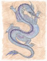 Dragon Tattoo Color by Hellsdrawingboard