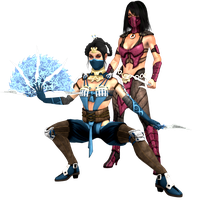 Mortal Kombat X - Kitana and Mileena by CaliburWarrior
