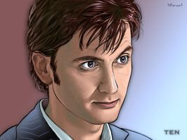David Tennant by Lithrael