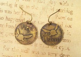 LoZ Hey Listen Earrings Navi Brass by FusedElegance