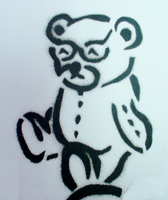 Teddy Bear Stencil by Gordorca