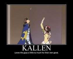 Kallen loves the guys by DramaStar-Mel