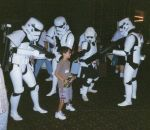 Stormtroopers attacks kid by Cliffather