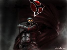 Helghast with flag by Signore-delle-Ombre