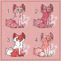 [CLOSED [Raffle] Adopt Valentine Cats by RabbieAdopts