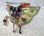 Luna Moth Leather Mask by merimask