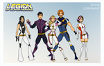 My DCU - Legion of Super-Heroes Redesigns Team A by Femmes-Fatales