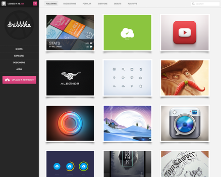 Dribbble Redesign by janvanlysebettens