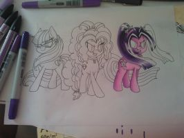 [WIP] The Dazzlings by PumpkinKikile