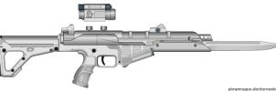 Another alien-ish rifle by BurnerMeen