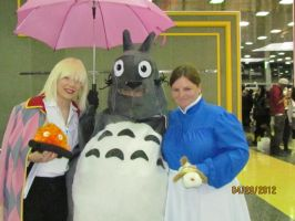 Totoro embraces Howl and Sophie Acen 2012 by joshietakashima